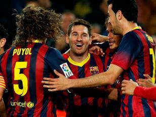 Con gol de Messi, Barcelona goleó y se acercó al Real Madrid