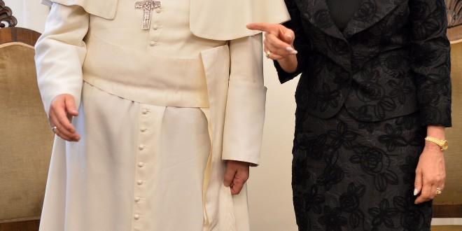 Cristina almorzó en privado con el papa Francisco
