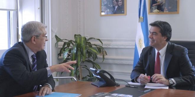 Capitanich se reunió con Domínguez para analizar su visita a Diputados