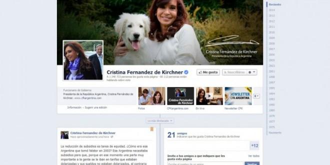 Cristina defendió por Facebook el aumento de hasta 400% en facturas de agua y gas