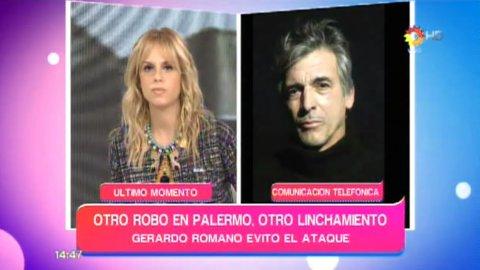 Gerardo Romano evitó un linchamiento