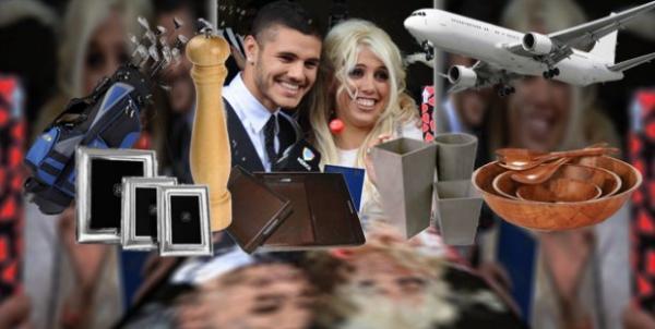 La insólita lista de casamiento de Wanda Nara y Mauro Icardi