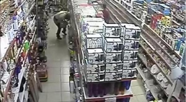 Video: Fue al baño en el pasillo del súpermercado