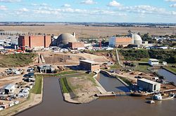 Se puso en marcha la fase nuclear de la central Néstor Kirchner
