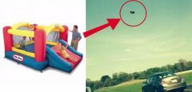 Un castillo inflable salió 'volando' y se llevó tres niños