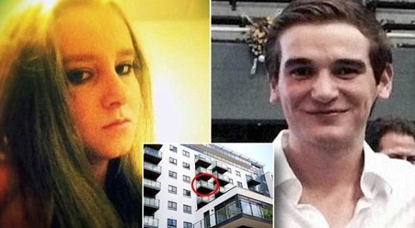 Se besában en un balcón, cayeron y murieron