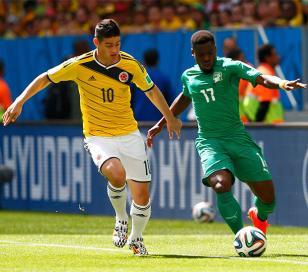 Colombia le ganó a Costa de Marfil y quedó a un paso de los octavos de final