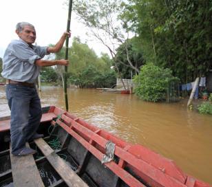 La creciente del Paraná llegó al norte de Entre Ríos
