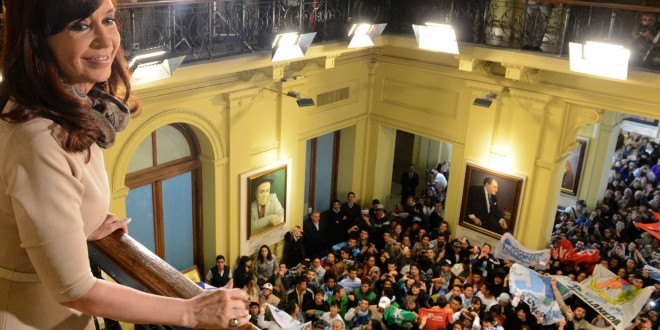 Cristina pidió a los sectores políticos unidad frente al reclamo de los fondos buitres