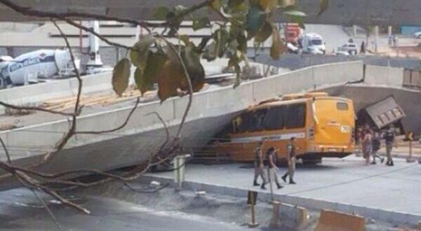 Se derrumbó autopista inaugurada para el Mundial en Brasil