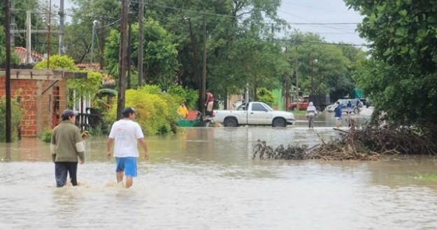 Trabajo en las zonas afectadas por las inundaciones