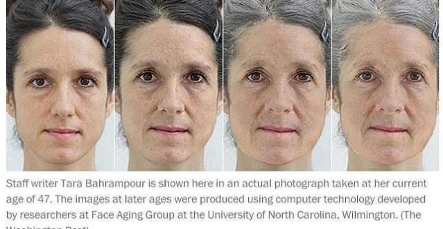 Mira como será tu rostro cuando envejezcas