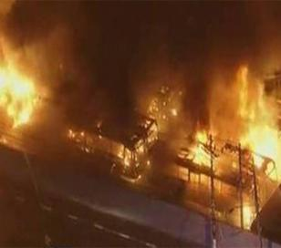 Incendio y saqueos en Brasil tras la goleada