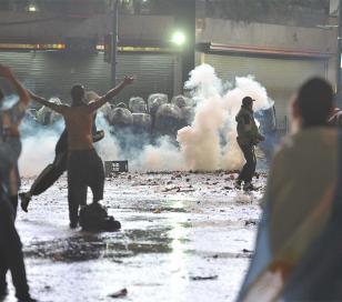 Detenidos y varios heridos en los festejos en el Obelisco