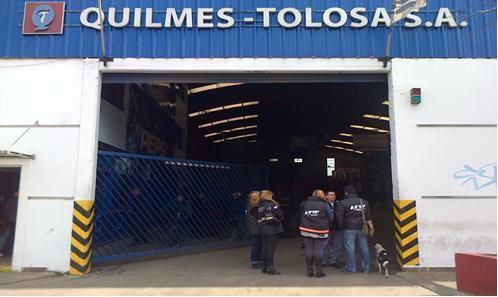 La AFIP allanó Quilmes Tolosa por evasión impositiva