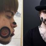"""Un Joven impacta con sus """"extremas"""" perforaciones en su cara"""