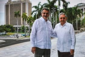 Raúl Castro recibió a Rossi