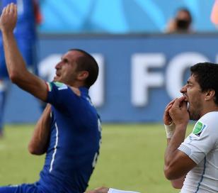 Suárez pidió perdón y Chiellini pidió reducción de pena