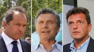 El futuro Presidente Argentino estaría entre Massa, Scioli y Macri