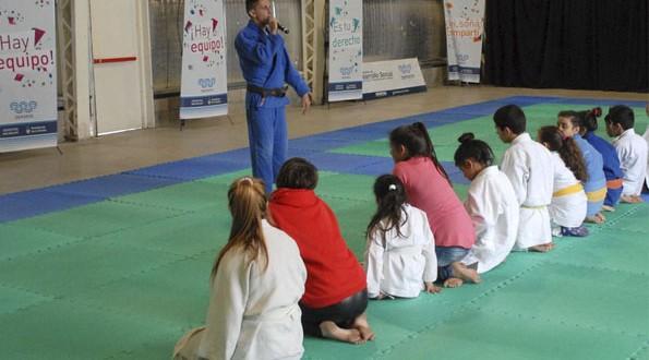 Clínicas y exhibiciones de judo y taekwondo en Tecnópolis