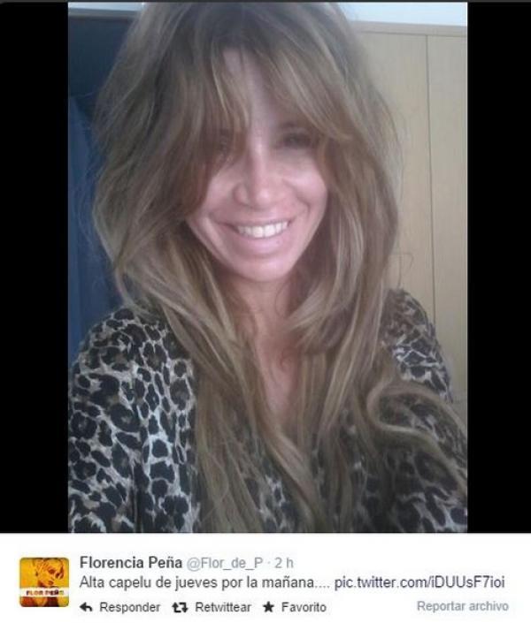 Florencia Peña sin maquillaje