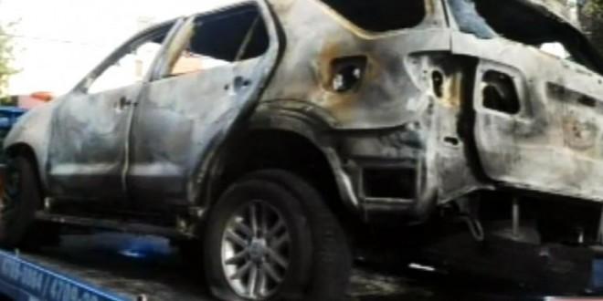Le quemaron la camioneta al periodista Gustavo Sylvestre