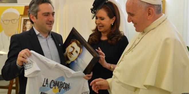 """Cristina Kirchner: """"El Papa no está preocupado por la gobernabilidad en Argentina"""""""