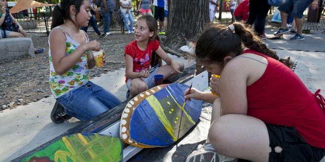 Festival de surf y skate en Tecnópolis