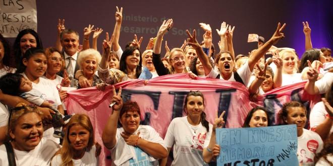 Alicia Kirchner, Estela de Carlotto y Susana Trimarco, en una clase magistral contra la violencia de género