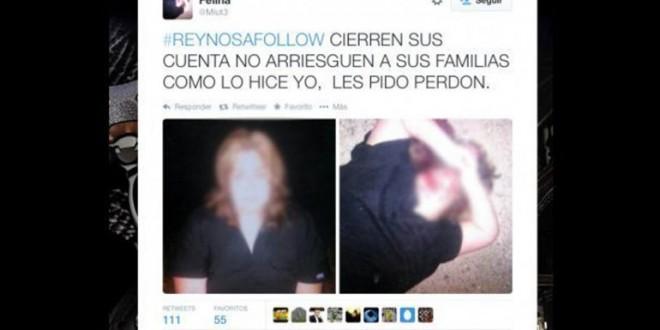 Narcos matan a tuitera y suben a su cuenta las fotos del cadáver