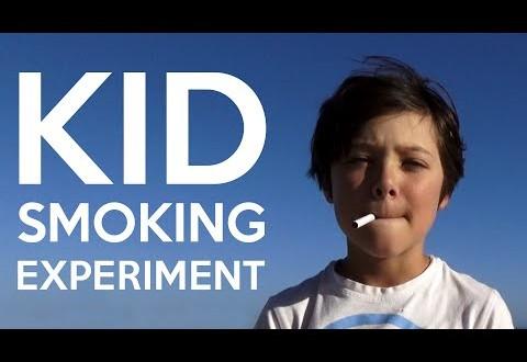 Video: Un niño, cigarrillo en mano, busca quién le de fuego y mira lo que ocurre