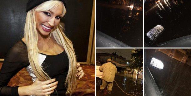 Temporal: Vicky Xipolitakis quedó varada con su auto