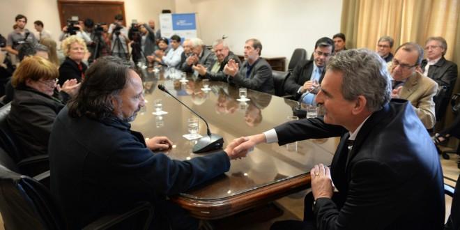 Rossi firmó un acuerdo de cooperación con la CGT-Zona Norte