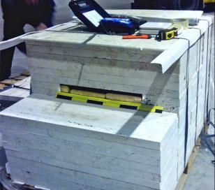 Encuentran 380 kilos de cocaína oculta en mármol