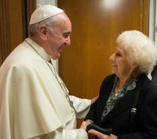 El Papa Francisco recibió a Estela de Carlotto
