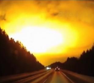 Una explosión iluminó el cielo en Rusia