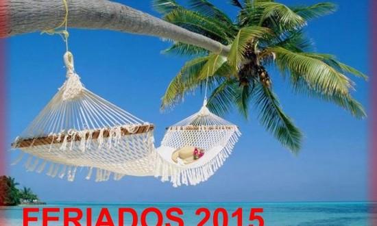 Feriados del 2015 mes a mes