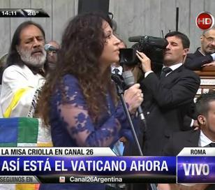 Patricia Sosa cantó la Misa Criolla ante el Papa Francisco