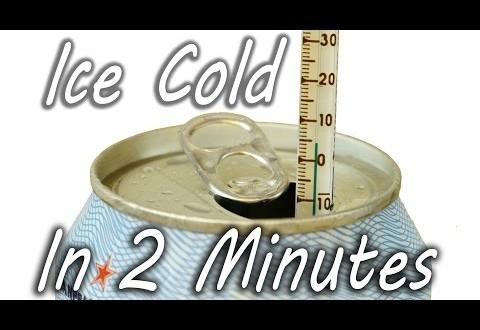 Cómo se puede enfriar cualquier bebida en 2 minutos