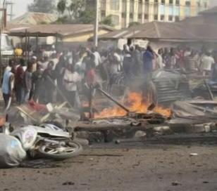 20 personas murieron al estallar una bomba adosada a una niña de unos 10 años