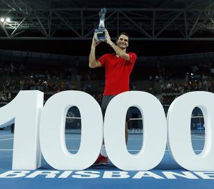 Roger Federer alcanzó su victoria 1.000 en el circuito ATP