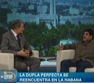 """Maradona dedicó su primer programa de """"De Zurda"""" a Rocío Oliva"""