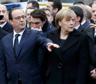 Líderes de todo el mundo junto a 3 millones de personas presentes en marcha en París