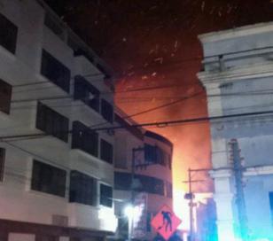 Se incendió hotel en Microcentro