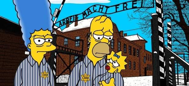 Los Simpson prisioneros en Auschwitz