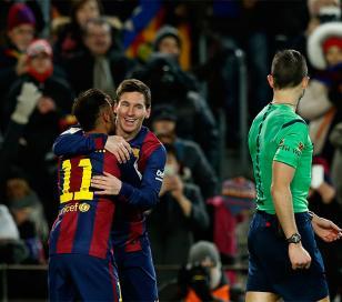El Barcelona venció al Villareal 3 a 2