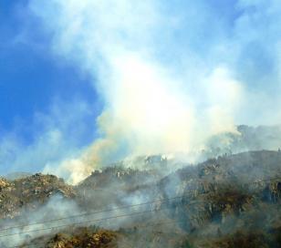 Incendio cerca de Lago Puelo