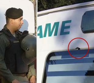 """Chofer de la ambulancia: """"Si el tiro le daba al tubo de oxígeno, la ambulancia volaba"""""""