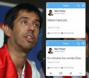 Polémica por los tuits de Alex Freyre durante 18F