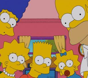 Los Simpson se unen a la euforia de la ceremonia de los premios Oscar